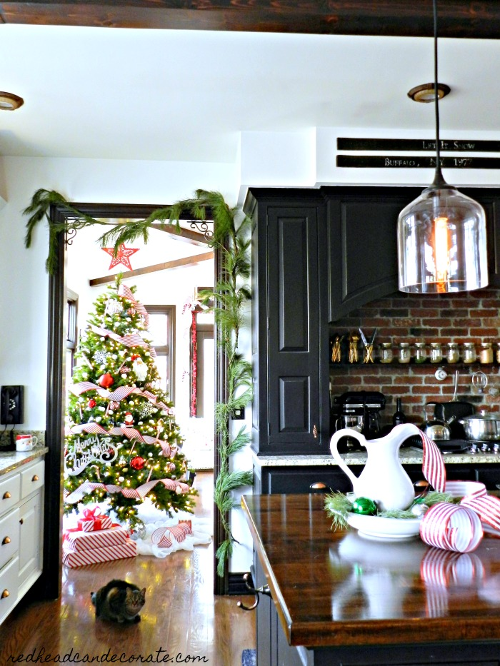 Gorgeous new kitchen glass pendants in this Michigan blogger's home are  stunning! Take the full