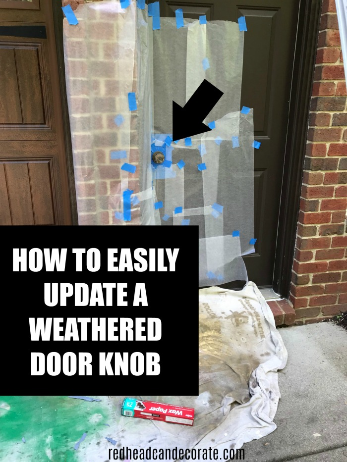How to easily update a weathered door knob by spray painting it...this easy thrifty DIY painted door knob is a must see!