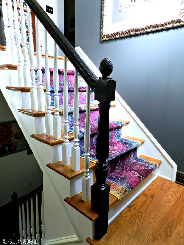 Stairway Dark Gray Accent Wall