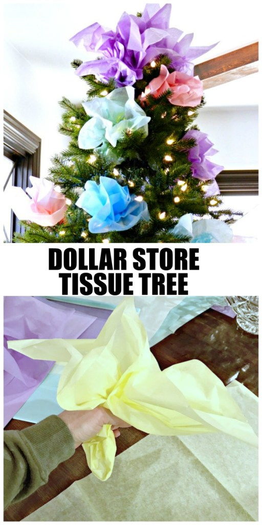 Dollar Store Tissue Paper Tree