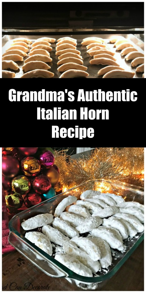 This vintage authentic Italian Horn Cookie Recipe will be your favorite Christmas cookie after you try them!  The dough is soft, fluffy, and filling is sweet!