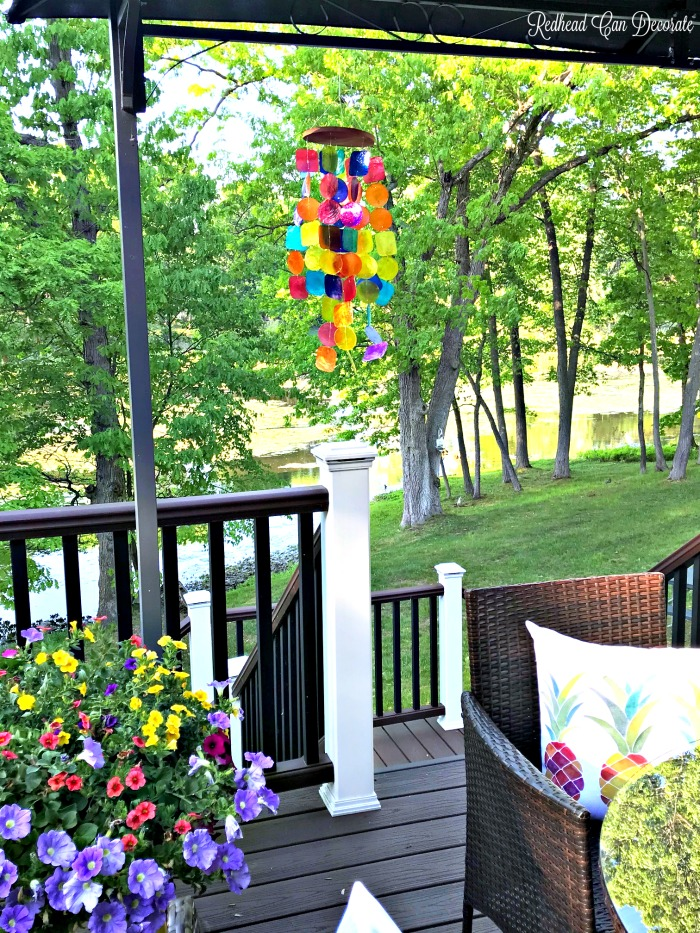 Gorgeous high quality handmade Capiz Rainbow Wind Chime would make a perfect gift, or will add color to your porch.  They come in many colors!