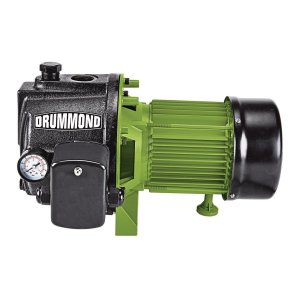 DRUMMOND 1 HP Cast Iron Shallow Well Pump With Pressure Control Switch