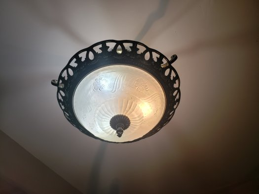 tiffany sphere foyer hanging chandelier
