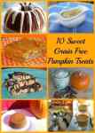 10 Sweet, Grain Free, Pumpkin Treats