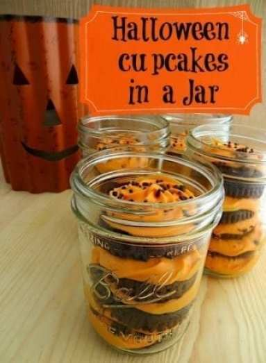 Halloween Cupcakes in a jar