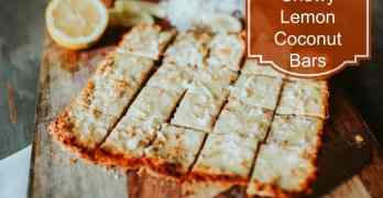 Chewy Lemon Coconut Bars #Recipe