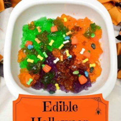 Make An Edible Halloween Sensory Bin