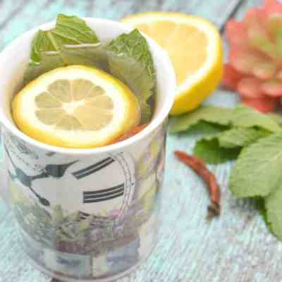 Cold-Fighting Mint Green Tea #Recipe