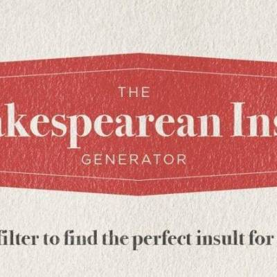 Shakespearean Insults for Every Occassion