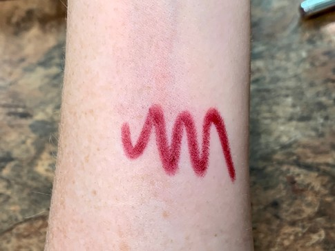 makeup swatch on arm