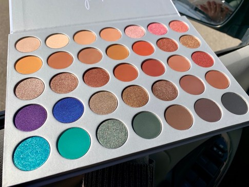 closeup of eyeshadow palette