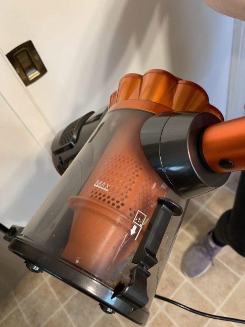 dustbin of vacuum cleaner