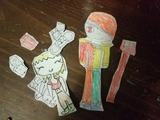 making paper dolls
