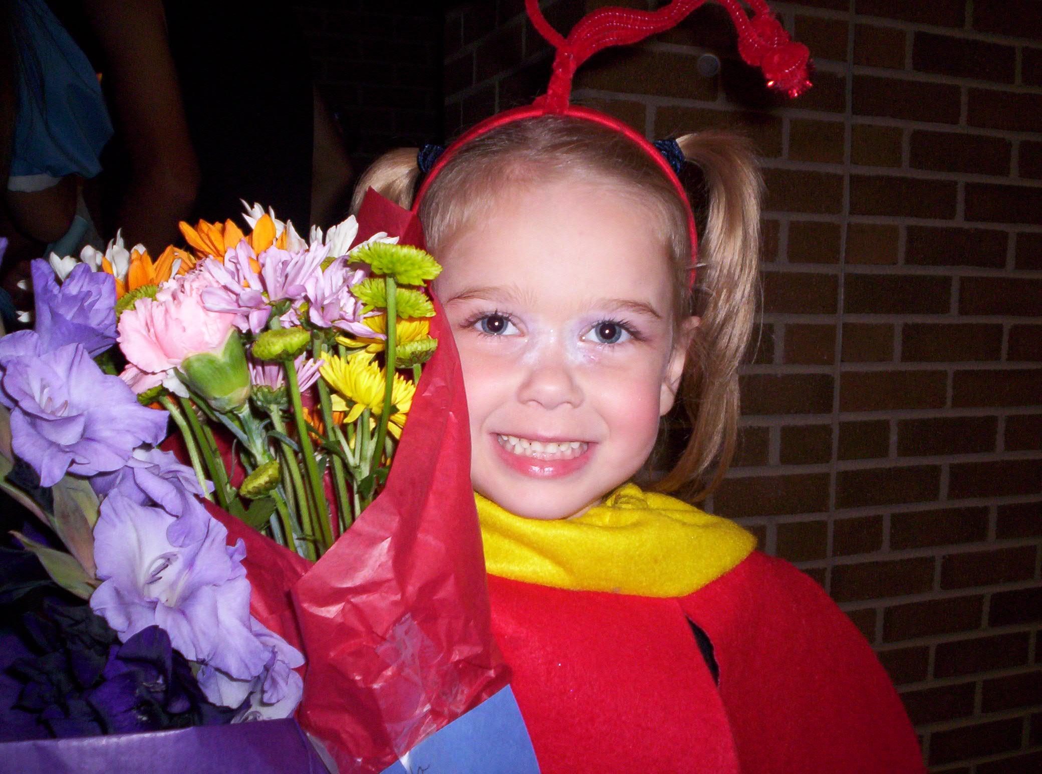 Princess as a dancing flower.