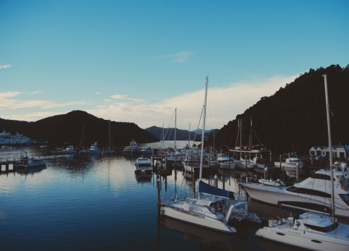 How to feel at home in a foreign place Harbour with boats