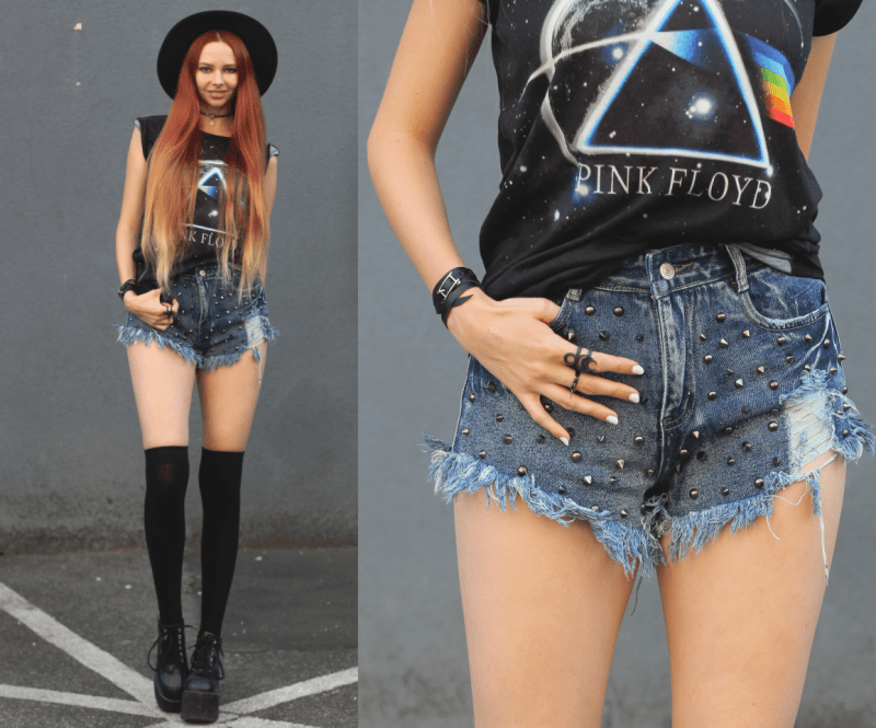Grunge outfit inspiration Dark Side of the Moon