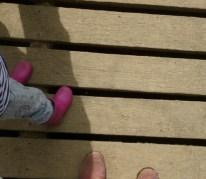 On the jetty at Sissinghurst castle kent