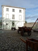 Courtyard with military supplies