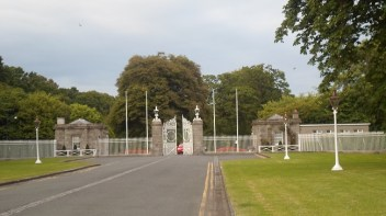 Áras an Uachtaráin the entrance to the Presidential residence
