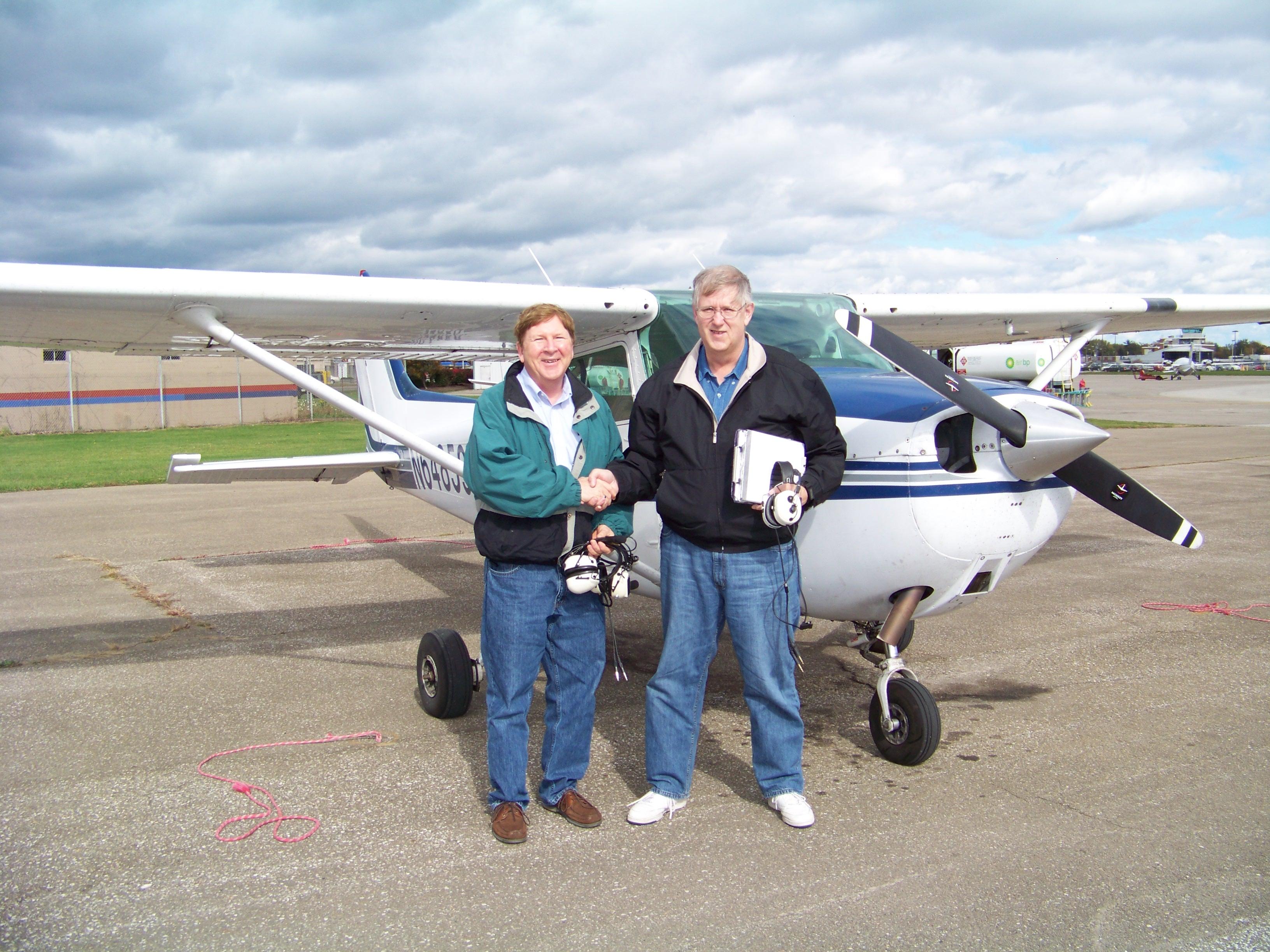 AJ, Wayne and a Cessna