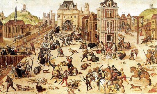 Representación de la Matanza de San Bartolomé de François Dubois