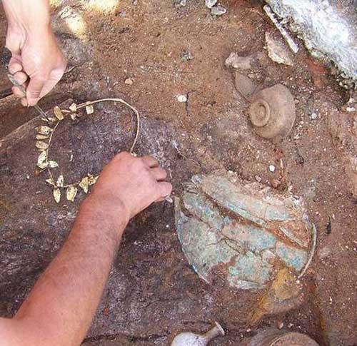 Tiara encontrada en Tesalónica