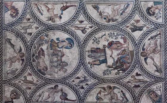 mosaico de los amores castulo