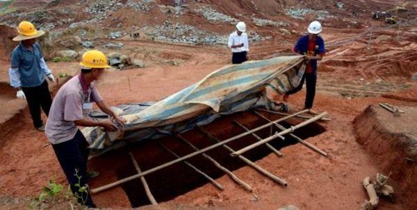 tumbas destruidas en china