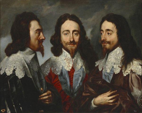 Carlos I de Inglaterra en tres posturas