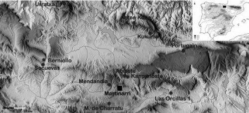 Ubicación del yacimiento de Martinarri