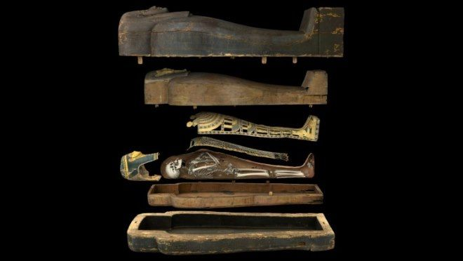 apertura digital de un sarcofago egipcio