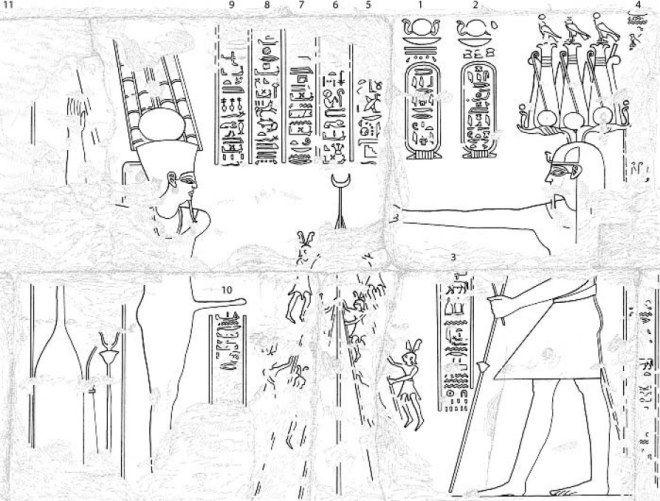 Calco del relieve egipcio.