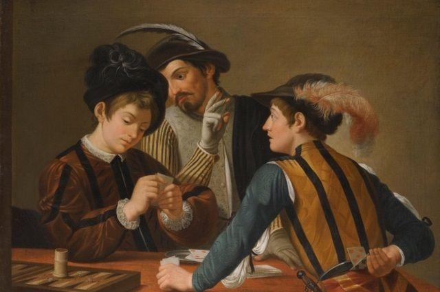 """""""Los jugadores de cartas"""", de Caravaggio"""