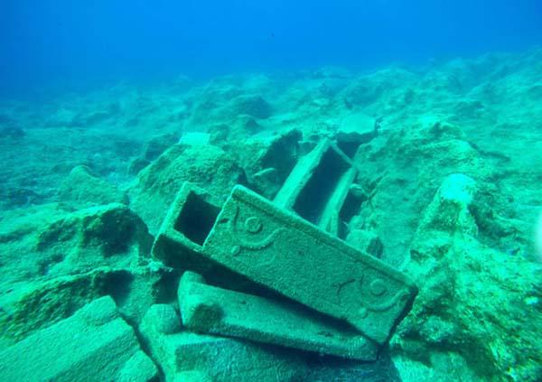 Hallazgos arqueológicos en la Bahía de Methoni, en Grecia.