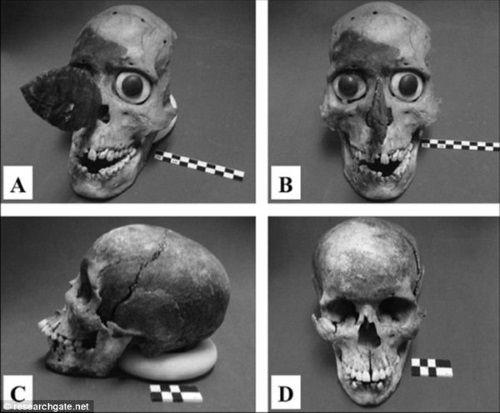 Máscaras y cráneos durante la investigación. Crédito: Universidad de Montana.