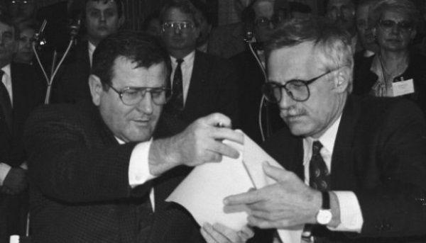 Vladimir Meciar y Václav Klaus