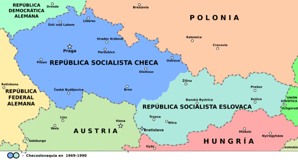 mapa checoslovaquia urss