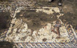 mosaico romano encontrado israel