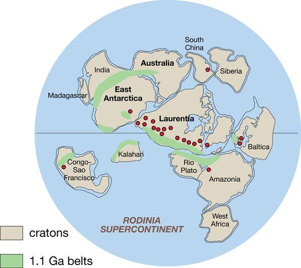 continentes rodinia