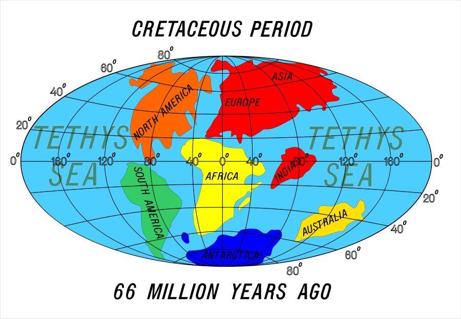 continentes cretacico