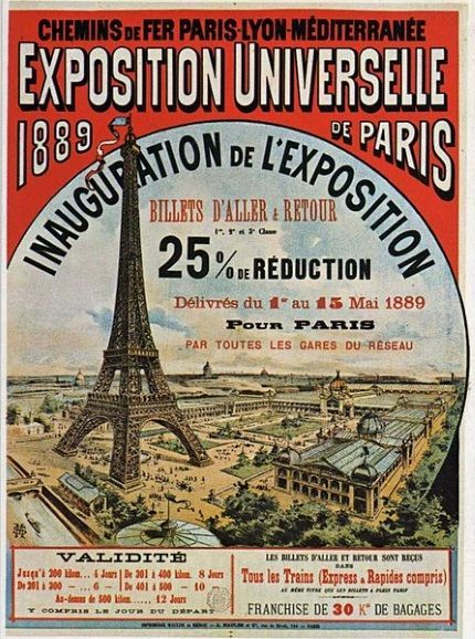 cartel expo mundial paris 1889