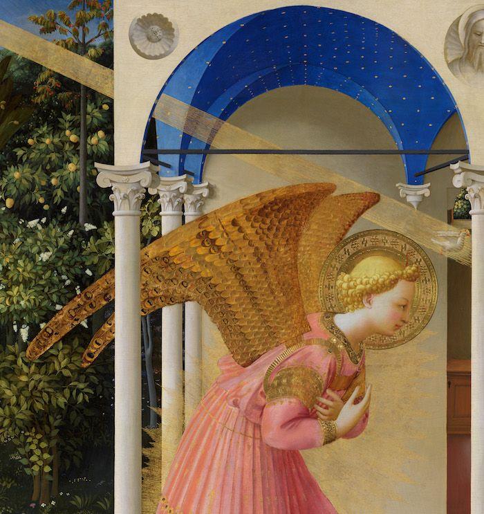 Detalle ángel y bóveda, después de la restauración