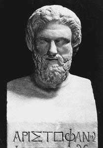 busto de aristofanes