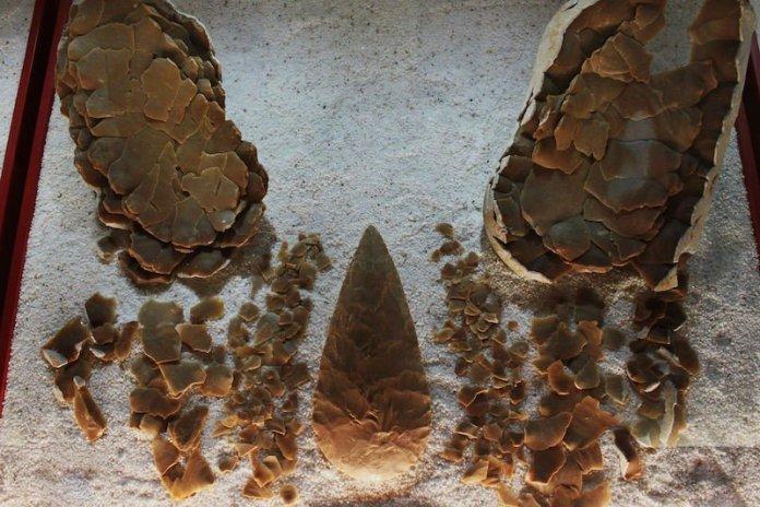 bifaces de silex prehistoria