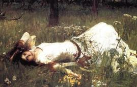 pintura ofelia waterhouse