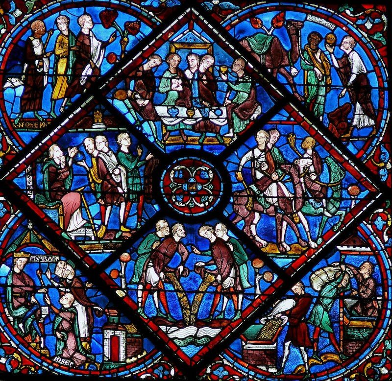 vidriera de la catedral de chartres
