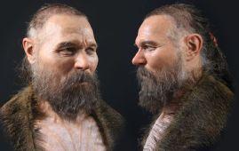 rostro hombre edad de piedra