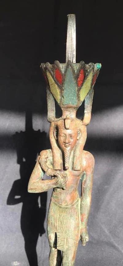 estatuilla egipto bronce