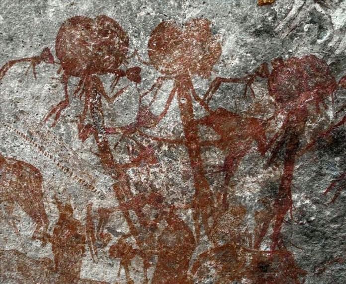pinturas rupestres antropomorfas tanzania